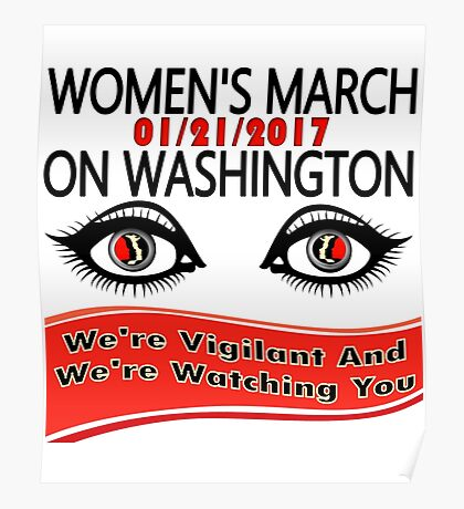 1-21-2017 Women March On Washington, DC Poster