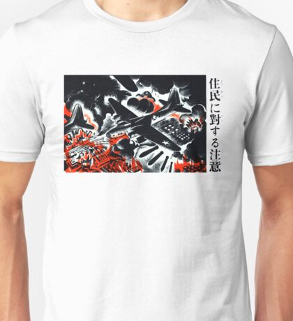WWII American Bombers over Japan Unisex T-Shirt