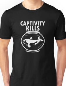 Captivity Kills - Free the Orca Whales Unisex T-Shirt
