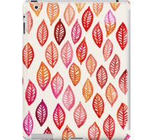 Watercolor Leaf Pattern in Autumn Colors iPad Case/Skin