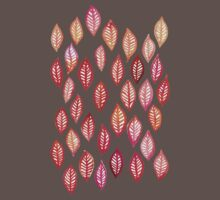 Watercolor Leaf Pattern in Autumn Colors Baby Tee