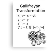 Gallifreyan Transformation Canvas Print
