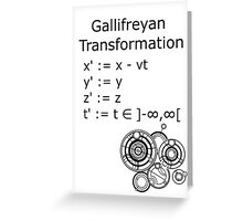Gallifreyan Transformation Greeting Card