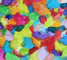 """""""Magical Gathering"""" original abstract artwork by Laura Tozer by Laura Tozer"""