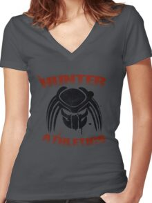 Hunter Athletics  Women's Fitted V-Neck T-Shirt
