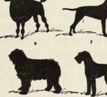 Vintage Dog Breeds Sticker