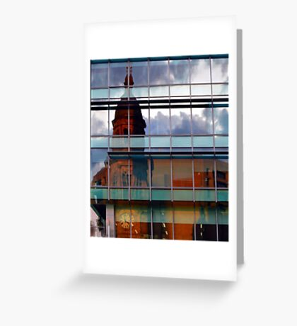 Adelaide Town Hal Reflection Greeting Card
