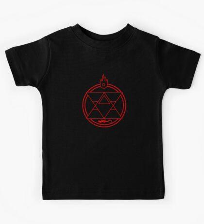 Flame Transmutation Circle - On black Kids Tee