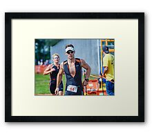 Mike at the Finish 2, 2014.08.17 Framed Print