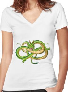 Babyintan Women's Fitted V-Neck T-Shirt