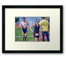 Kelly at the Finish 2, 2014.08.17 Framed Print