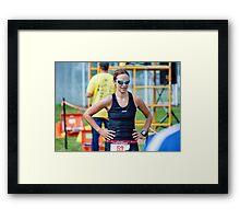 Kelly at the Finish 3, 2014.08.17 Framed Print