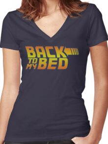 Back to my bed Women's Fitted V-Neck T-Shirt