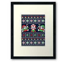 Super Christmas Bros Framed Print