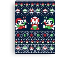 Super Christmas Bros Canvas Print