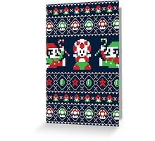 Super Christmas Bros Greeting Card