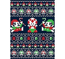 Super Christmas Bros Photographic Print