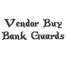 Vintage Online Gaming Vendor Buy Bank Guards Photographic Print