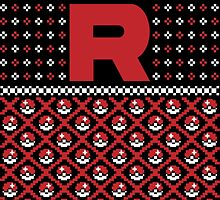 Christmas I Choose You! - Team Rocket Christmas Sweater by RetroReview