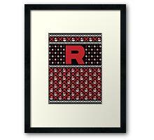 Christmas I Choose You! - Team Rocket Christmas Sweater Framed Print