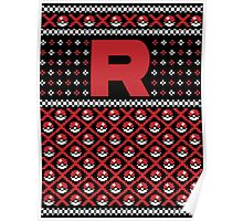 Christmas I Choose You! - Team Rocket Christmas Sweater Poster