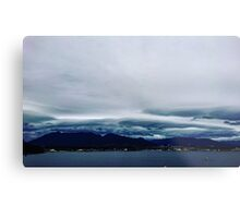 Vancouver Harbour in Fall Metal Print