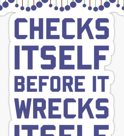 Check Yourself Before You Wreck Your DNA Genetics Sticker