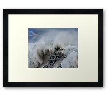 Monster Waves At Pipeline Framed Print