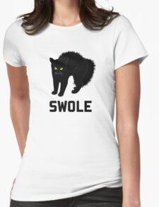 Swole Cat is Kitten Swole Womens Fitted T-Shirt