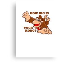 Donkey Kong How Big Canvas Print