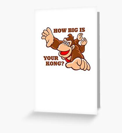 Donkey Kong How Big Greeting Card