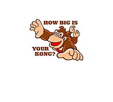 Donkey Kong How Big Photographic Print