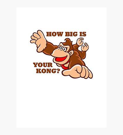 Donkey Kong How Big Photographic Print