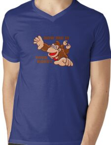 Donkey Kong How Big Mens V-Neck T-Shirt