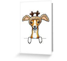 Oh Deer | Italian Greyhound Greeting Card