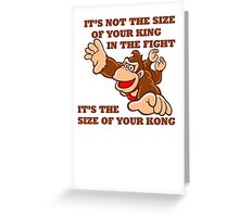 Donkey Kong King Size Greeting Card