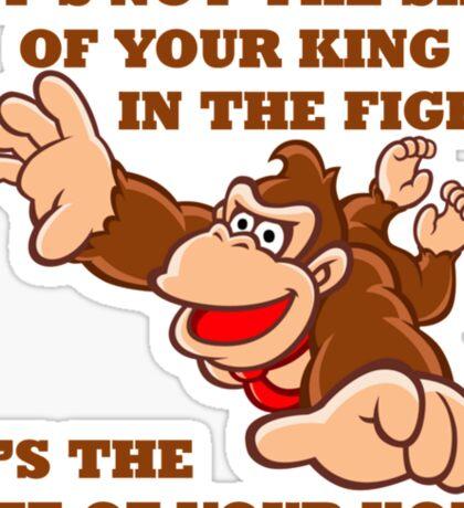 Donkey Kong King Size Sticker