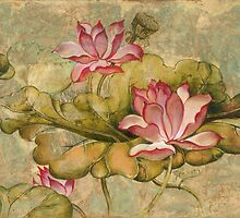 """""""The Lotus Family"""" from the series """"In the Lotus Land""""  by Anna Miarczynska"""