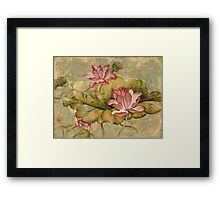 """The Lotus Family"" from the series ""In the Lotus Land""  Framed Print"