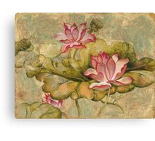 """""""The Lotus Family"""" from the series """"In the Lotus Land""""  Canvas Print"""