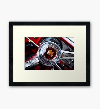 Pontiac 1954 Steering Wheel Framed Print