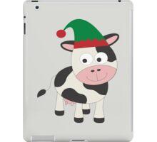 Cute Christmas Elf Cow  iPad Case/Skin