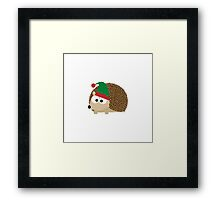 Hedgehog Christmas Elf Framed Print