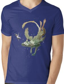 fly together with trico Mens V-Neck T-Shirt