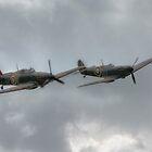 Mk1 Spitfire and Hurricane by Nigel Bangert