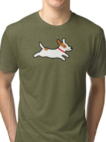 Cute Jack Russell Terrier Tri-blend T-Shirt