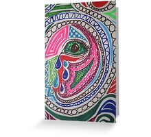 Miscellaneous Coloured Sharpie Design  Greeting Card