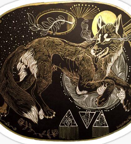 dessert wolf Sticker