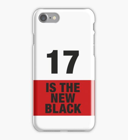 17 is the new BLACK iPhone Case/Skin
