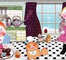 Cooking with friends. year 2013. by OrteRuizDesigns